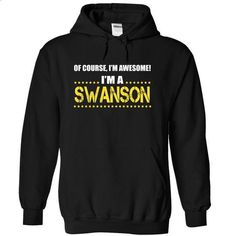 I am a SWANSON - #summer shirt #sweater shirt. MORE INFO => https://www.sunfrog.com/Names/I-am-a-SWANSON-erzwohdifd-Black-13705401-Hoodie.html?68278