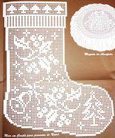 """Ainda da revista """"Croché arte e tradição"""" nº 96, uma meia de Natal:   manela"""