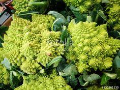 Romanesco broccoli at farmers market