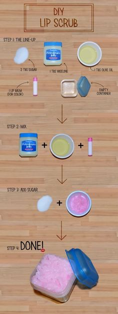 DIY Lip Scrub (How To Make Slime With Soap)