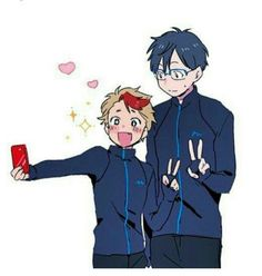 Selfie with his idol Yuri Katsuki | Minami Kenjirou | Yuri on Ice | YOI