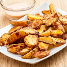 Oven Roasted Potato Wedges perfect crispy on the outside yet so soft on the inside. Just perfect - learn my secret to cooking them just right. gluten-free and vegan. The perfect side dish or appetizer.