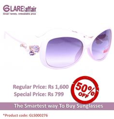 EDWARD BLAZE EB-DS109 WHITE SUNGLASSES http://www.glareaffair.com/sunglasses/edward-blaze-eb-ds109-white-sunglasses.html  Brand : Edward Blaze  Regular Price: Rs1,600 Special Price: Rs799  Discount : Rs801 (50%)