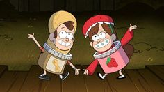 Mabel and Dipper in Halloween costumes