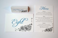 On the day stationery Grace & Bramble | Classical Wedding Stationery