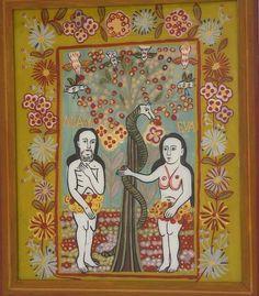 Icons on Glass Adam Et Eve, Christian Paintings, Orthodox Icons, Klimt, Illuminated Manuscript, Religious Art, Kristen Konst, Folk, Birds