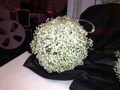 Gypsophila Pomander perfect for a short 50s inspired wedding dress