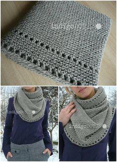 Free Crochet Calm Cowl Pattern - 81 Free Crochet Cowl Patterns / Crochet Infinity Scarf - DIY & Crafts