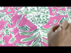 Lilly Pulitzer Making of a Print Resort 2012- Watch the Lilly Pulitzer Scorpion Bowl print from our Resort 2012 Collection come to life!
