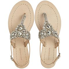 Antik Batik Mila Rhinestone Thong Sandal ($275) ❤ liked on Polyvore featuring shoes, sandals, flats, flat sandals, nude, nude flat shoes, travel flats, rhinestone flats, flat thong sandals and rhinestone shoes