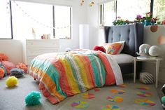 big girl room inspired by color and pattern.