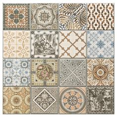 Decorative Porcelain Tile Enchanting Provenzia Decorative Mix Pattern Porcelain Tile  Bath Remodel Inspiration Design