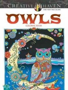 Coloring Books For Adults Grown-Ups Creative Haven Owls Relieving Stress Relax