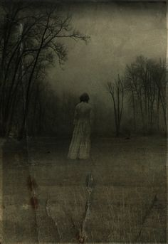 """Desolate """"Ghost in The Woods"""" by Fraser via Frank Zumbachs Mysterious World s p o o k y"""