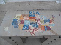 USA Map on Desk