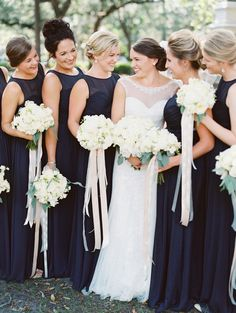 Photography : The Happy Bloom Read More on SMP: http://www.stylemepretty.com/georgia-weddings/savannah/2016/09/12/a-traditional-southern-cathedral-wedding-bathed-in-blue/