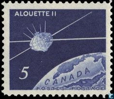 Stamps - Canada [CAN] - Canadian satalite 1966 Canada Post, Space Age, Postage Stamps, Canning, Inspiration, World, Biblical Inspiration, Stamps, Home Canning