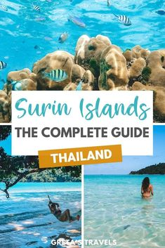 Looking for the most beautiful and untouched island in Thailand? Look no further. The Surin Islands in Thailand are a … Thailand Travel Guide, Visit Thailand, Asia Travel, Backpacking Thailand, Beautiful Places To Visit, Cool Places To Visit, Places To Go, Beautiful Beaches, Khao Lak