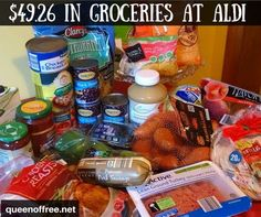 WOW I amazed at how much you can buy at ALDI with 50 This ALDI Crockpot meal plan provides six hearty meals sure to have leftovers Aldi Recipes, Crockpot Recipes, Budget Recipes, College Recipes, Easy Recipes, Recipies, Dinner Recipes, Cooking Recipes, Frugal Meals