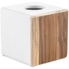 Kassatex Habitat Collection Tissue Holder ($43) ❤ liked on Polyvore featuring home, bed & bath, bath, bath accessories, white, kassatex bathroom accessories, white bathroom accessories, white toilet paper holder, kassatex bath accessories and white bath accessories