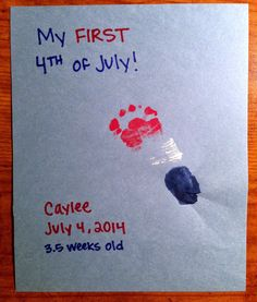 The Pursuit of Happiness: 4th of July Baby Footprints Craft