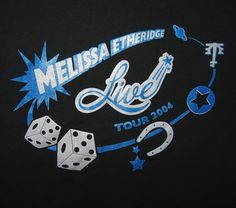Melissa Etheridge 2004 Lucky Live Tour T-Shirt Size XL Unusual Design Unworn