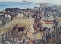 1918 env Vue de Cagnes Huile 46 x 55 cm Collection particulière
