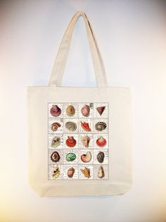 Seashell Collage on 15x15 Canvas Tote  other bag by Whimsybags, $12.00