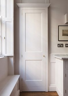 The New Victorian Ruralist: Plain English ✨new interior doors Plain English Kitchen, English Kitchens, Architrave, Wardrobe Doors, Bespoke Kitchens, Cupboard Doors, Old Houses, Home Kitchens, Armoire