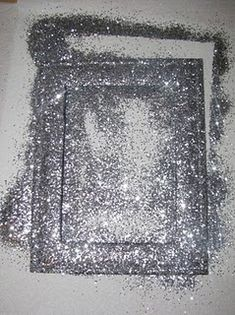 glitter frames with spray paint!! I'm thinking this would be awesome on a big mirror!