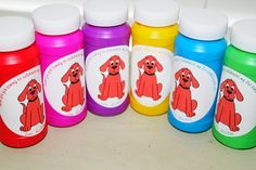 Bubble Favors, Favor Gifts, Party Favors, Clifford the Big Red Dog, Birthday Party Favors, Goodie Bags. $18.00, via Etsy.