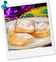 Easy Beignet Recipe | Mardi Gras Food Recipe at Birthday in a Box... use for Tiana Princess Party too!