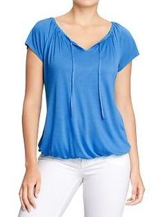 Women's Jersey-Boho Tops | Old Navy (this color or the tropical breeze)