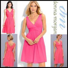 1-Hour Saledonna Morgan Chiffon V-Neck Dress
