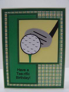 Handmade Greeting Card: Happy Birthday Card, Golf, Golfing, Golfer, Golf Club, Masculine Card, Card for Man, Men's Birthday Women's Birthday... - originally designed by Heather of blogloving.com