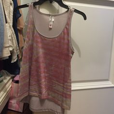 Pink glittery tank top Only worn a few times. Great condition. Don't be Afraid to ask a question or to make an offer! Ransom Tops Tank Tops