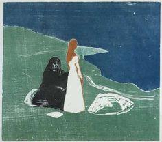 Twee vrouwen aan het strand, Edvard Munch, 1898 - Rijksmuseum