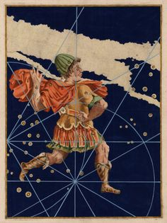 "humanoidhistory: ""The constellation Cepheus, illustrated in Uranometria, a celestial atlas by Johann Bayer first published in 1603. Cepheus was king of Aethiopia in Greek mythology. (I'm not sure what year/edition this example is from.) (Atlas..."