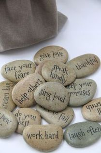 Diy painted rocks ideas with inspirational words and quotes (176)
