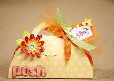 Adorable paper purse party favor