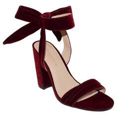 Women's Michaela Velvet Ankle Tie Bock Heels