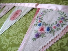 What can be done with vintage fabrics and crewel embroidery