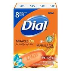 Used Dial® Marula Oil Infused Glycerin Soap 8 - 4 oz. Pack