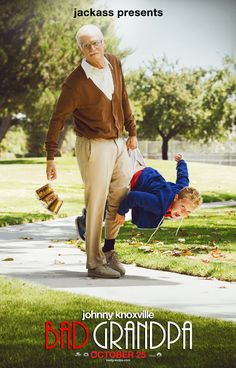 New Poster for Jackass Presents: Bad Grandpa Features Johnny Knoxville as Old Man on http://www.shockya.com/news
