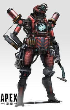 Character Art, Character Design, Battle Royale Game, Cyberpunk Art, Robots, Work Hard, Video Games, Sci Fi, Draw