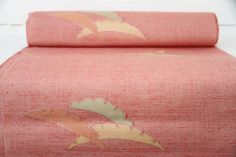 Make Kimono: Pink Red Authentic Japanese Kimono Fabric Bolt by CJSTonbo on Etsy