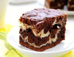 Mramorový tvarohový koláč
