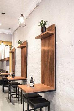Coffee Shop Interior Design Ideas For Small Cafe Etagere Design, Deco Restaurant, Restaurant Seating, Restaurant Ideas, Restaurant Counter, Regal Design, Coffee Shop Design, Interior Design Coffee Shop, Small Coffee Shop
