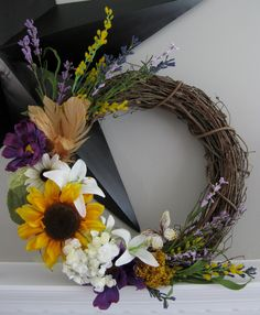 The Pam Spring/Summer Wreath by MudMomTuTu on Etsy