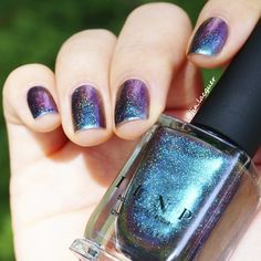 Hush (H) is a holographic version of the original Hush Ultra Chrome nail polish!  The new Hush (H) contains just the right amount of holographic splendor to add a beautiful rainbow sparkle to the polish. All without ruining the intense color shift effect!  If you love Sirène but have been looking for an Ultra Chrome with a little less green and more teal, here she is! Finally!  Hush (H) effortlessly shifts through spectacularly vivid hues of teal, blue, violet, orange, and red depending on…